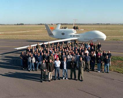 In 2001, a Global Hawk made international aviation history when it completed the first non-stop flight across the