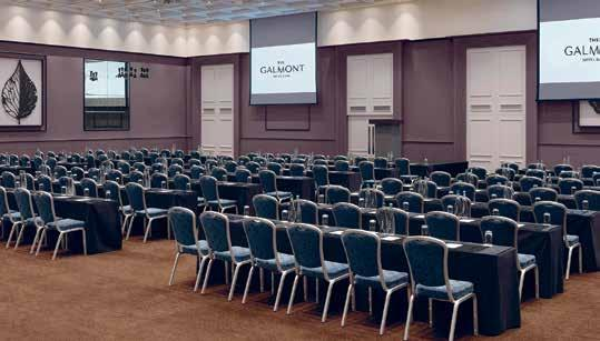 MEETINGS & EVENTS With the largest event spaces in the west of Ireland and a committed team to make sure your event runs without a hitch, The Galmont Hotel is the natural choice for meetings and