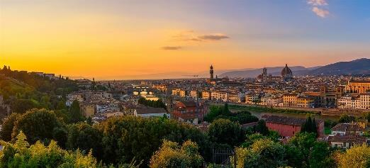 Itinerary at a glance Day 1 Overnight Flight Days 2, 3 Hotel Sant'Elena, Venice Days 4, 5 B4 Astoria Firenze, Florence Days 6, 7 Mediterraneo Hotel, Rome On some dates alternate hotels may be used.