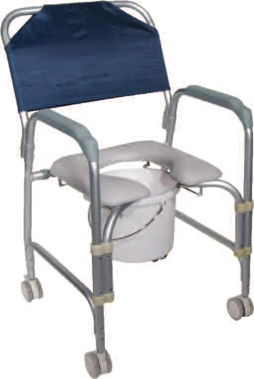 Folding, Portable, Upholstered Commode with Wheels and Drop Arm 10 COMMODES To order call toll free: 877.224.