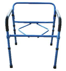 commode reduces the number of items carried. Durable plastic snap-on seat with lid.