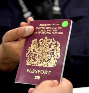 your passport to an officer at the UK Border.