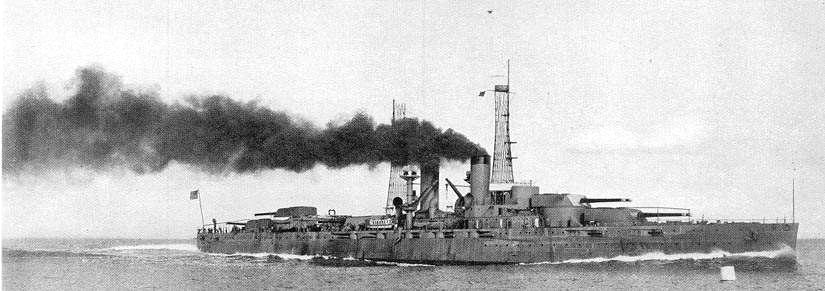 The other was the TEXAS (BB-35); NNS Hull #147; shown above on her high speed trial run off the coast of Maine before delivery in 1914.