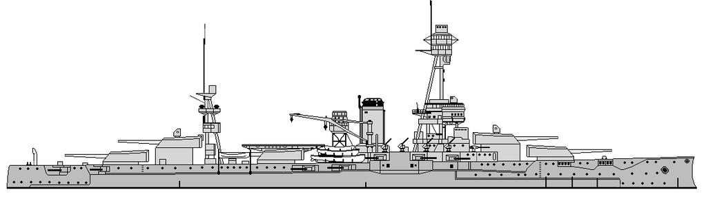 Thicker side armor and anti-torpedo blisters were added below the waterline, which increased her beam by approximately twelve feet.