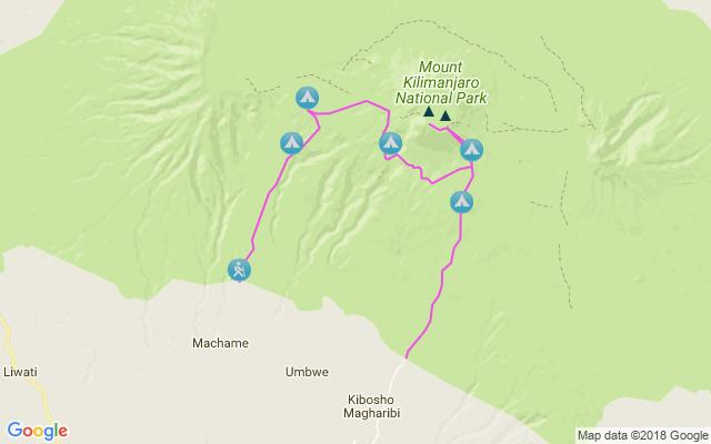 PAGE 2 Day 1: Depart London Day 2: Arrive Moshi Arrive at Kilimanjaro International Airport; transfer to Moshi town, where we can admire the views of Kibo, the crater at the summit and the youngest