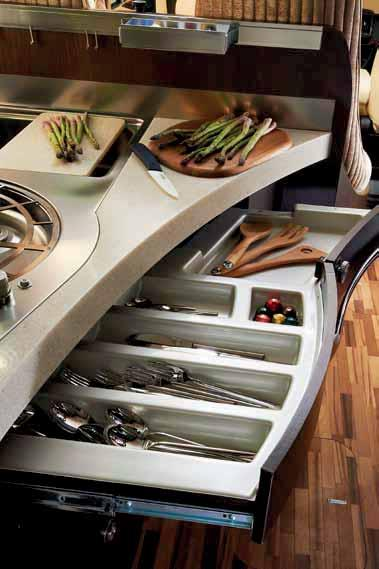 this environment: the steel cooktop, the stylish