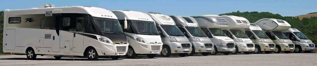 FIRST-CLASS LAIKA MOTORHOMES: A-CLASS, LOW-PROFILES, COACHBUILTS, VANS CHOOSE THE MODEL THAT IS BEST FOR YOU AND ENJOY YOUR LEISURE TIME UNDER THE AEGIS OF THE DOLCE VITA : FIVE-STAR
