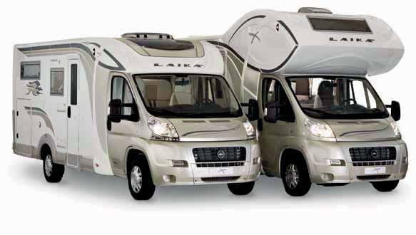WARDROBE, WITH A FIXED REAR BED OR WITH AN ELECTRICALLY ADJUSTABLE REAR BED THE X MOTORHOMES ARE SUITABLE FOR WINTER USE FIBREGLASS-COATED