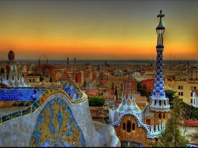 Overnight in Barcelona Sagrada Familia Parc Guell Barcelona is located in the northeastern part of the country, 90 miles south of the French border.