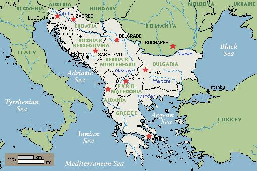 Geography and the Greek City- Greece is part of the Balkan