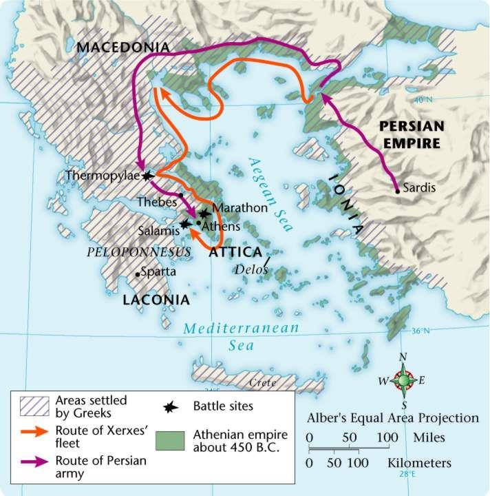 The Persian Wars Despite their cultural ties, the Greek city-states were often in conflict with one another.