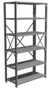PERFORMANCE PLUS SHELVING OPEN TYPE SHELVING The most basic and economical shelving design for general purpose use is the open type shelving. The open backs and sides are stabilized by sway braces.