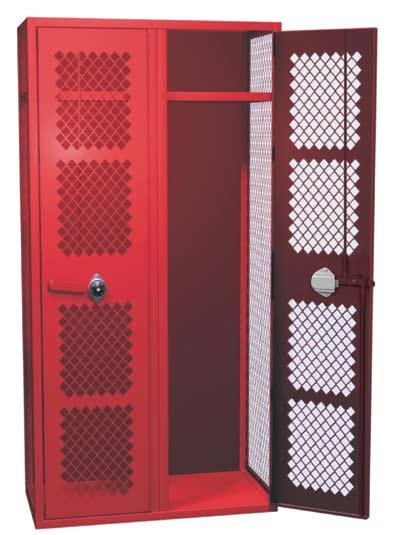 ANGLE IRON LOCKERS ALL-WELDED CONSTRUCTION Angle Iron Lockers specially constructed angle iron frame provides the robust structural integrity needed to