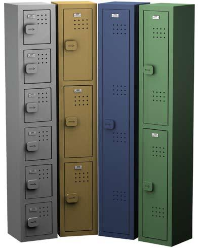PLASTIC LOCKERS Plastic Lockers are ideal for high-humidity applications, as these virtually maintenance-free lockers will never rust, rot, corrode or fade.