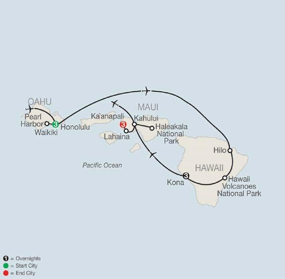 DAILY ITINERARY DAY 1 - DEPART AND ARRIVE IN HONOLULU DAY 2 - WAIKIKI - EXCURSION TO PEARL HARBOR DAY 3 - WAIKIKI -