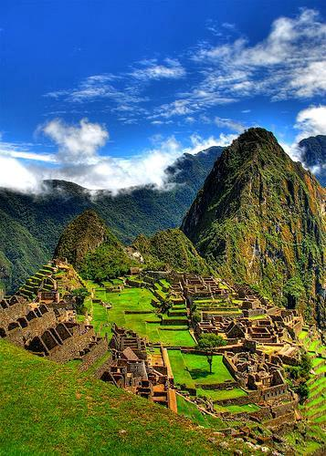 less than 100 years later following the Spanish conquest of Peru. Enter Machu Picchu by the main gate, admiring your first few glimpses of this incredible archaeological site.