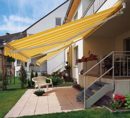 Open patio awnings Topas/ Topas MiniMax Topas with and without aluminium hood Topas with hood Topas without hood Technical details Max.