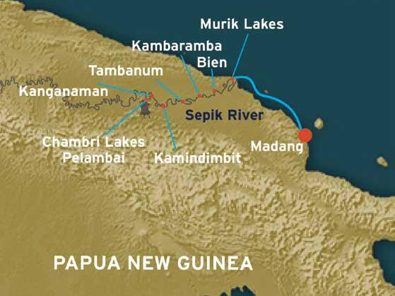 Itinerary 7 nights madang to madang Each itinerary may vary, subject to local conditions and availability DAY 1: MADANG / SEPIK MOUTH Board at 3:00pm for a 4:00pm departure.