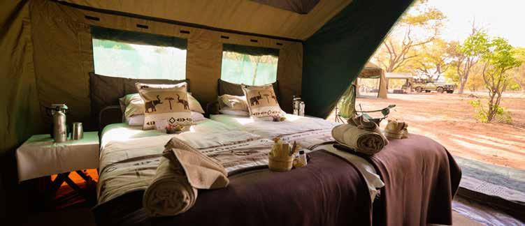 Day 10 Depart Camp Savuti for Chobe National Park Full day activity including game viewing from Camp Savuti to luxury mobile camp in Chobe Early morning wake up followed by breakfast at the lodge,