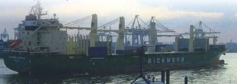The maiden voyage of Rickmers Jakarta The Marshall Islands-registered multi-purpose general cargo ship, Rickmers Jakarta, made its first call at KaoPort on May 14, 2004, docking at Wharf No.