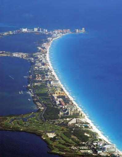 Thinkstock / Ablestock.com In just 35 years, Cancun has grown from a small fishing village to the largest resort destination in Mexico.