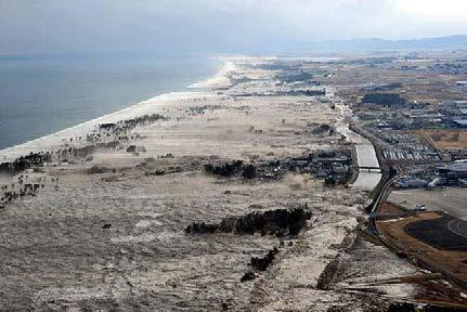 On 11 March 2011, huge tsunamis afflicted the