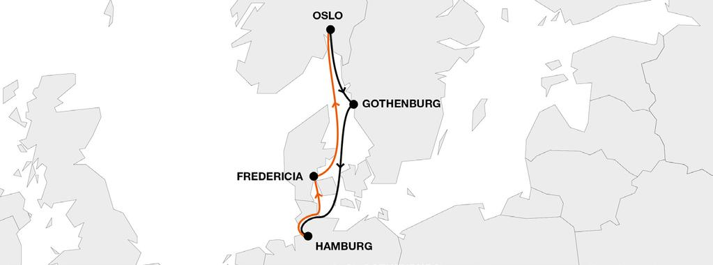 Nordic Short Sea GTE Gothenburg Express Key Service Strengths Own weekly direct service Connectivity to HL global network via hub