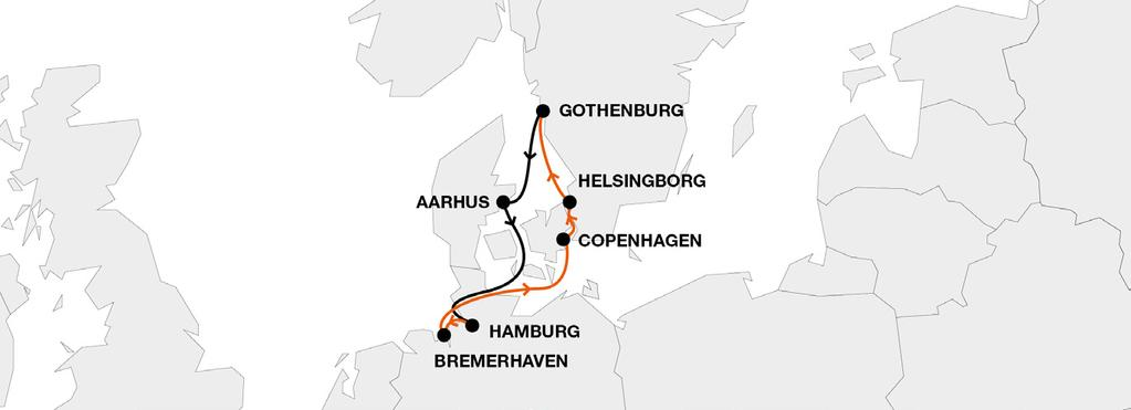 both hubs Hamburg and Bremerhaven Transit times Catering for Swedish and