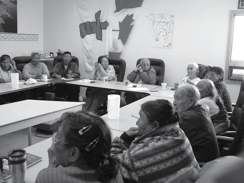 Land Claims as a Mechanism for Wilderness Protection in the Canadian Arctic Sahanatien Figure 2 Inuit Knowledge Project Elders committee meeting, Qikiqtarjuak, Nunavut, Canada (photo courtesy of