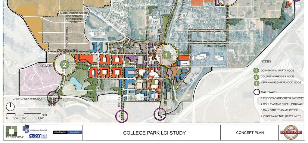 Atlanta Regional Commission s Livable Centers Initiative Concept for Downtown College Park 1) Historic