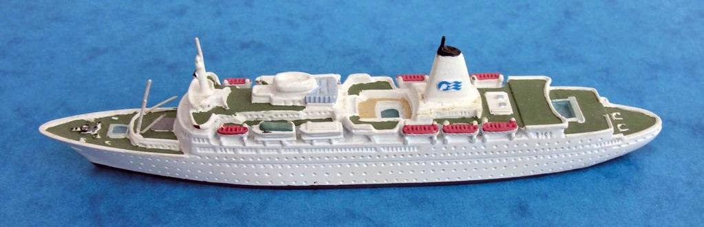 Helvetia Degen Sea Princess (P&O Princess, 1979) High quality resin models covering a wide variety of types but with only some 40 releases, and a predominance of foreign merchant ships; of interest