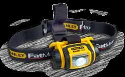 Stanley FatMax jobsite headlamp 80 Lumens of bright white light. Durable construction provides 2 meter impact resistance. Rotating head allows light to be shined where needed. 9.