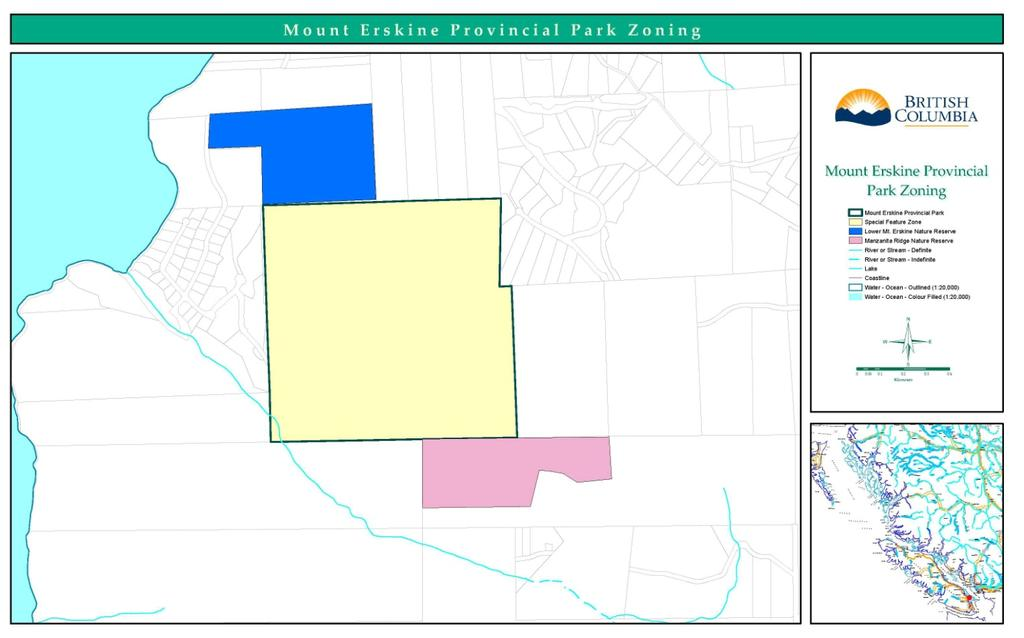 3.3 Zoning BC Parks uses zoning to assist in the management of protected areas.