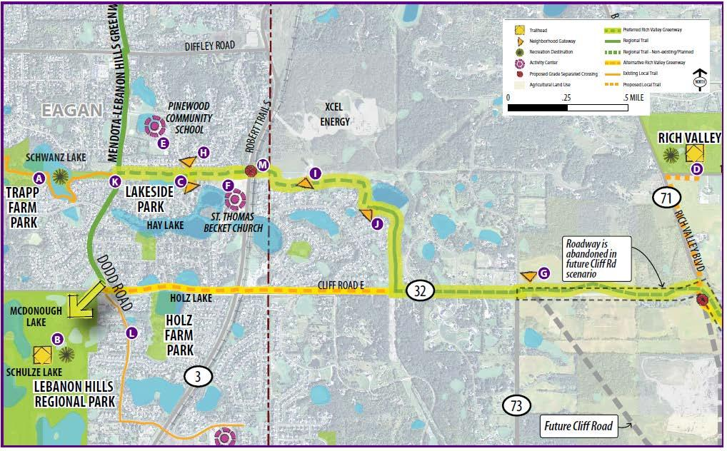Figure 6: Segment 1 Concept Plan Segment 2 is 2.5 miles in length and entirely within Inver Grove Heights.