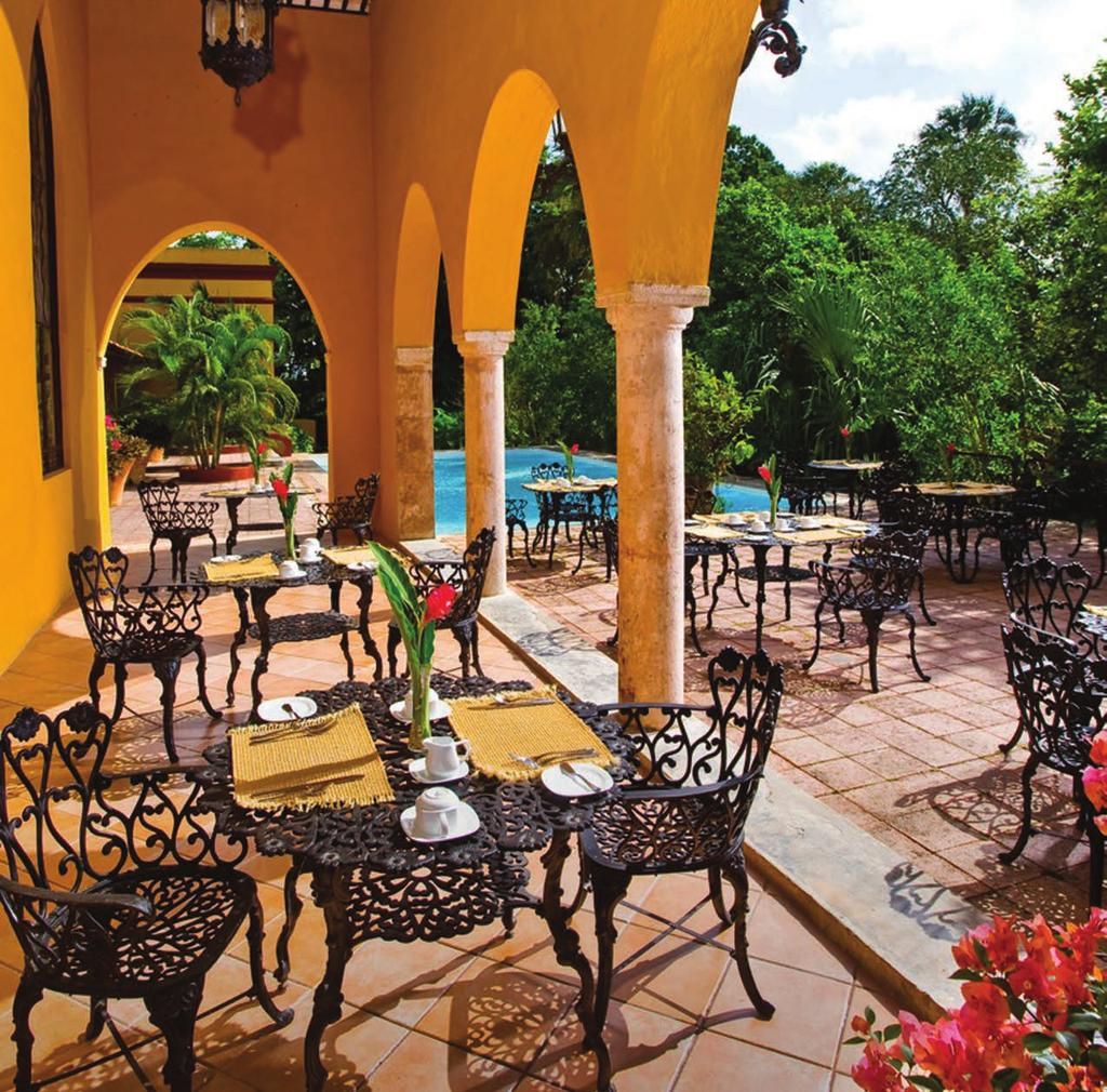 YUCATAN Reopened in 2000 after a five-year renovation, Hacienda Xcanatun now provides guests with blissful accommodations in an
