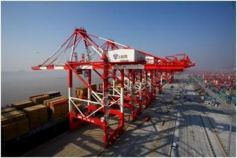 Shore power demonstration at container terminal Location Guandong