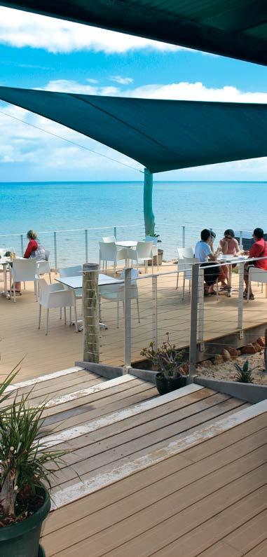 Welcome to Oceans Restaurant - open from 9am to 3pm What better way to finish off your Ocean Park adventure than relaxing at our licensed restaurant overlooking the Shark Bay Marine Park?