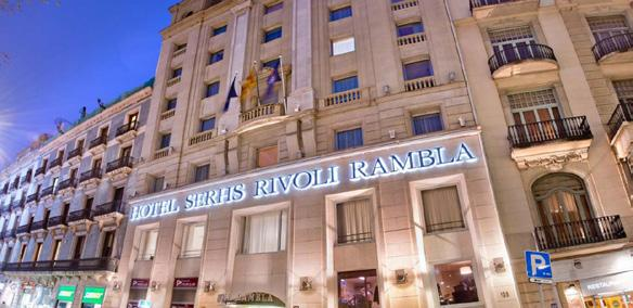 Spain Earlybirds - Barcelona HOTEL SERHS RIVOLI RAMBLAS Situated on the famous Ramblas, Hotel Serhs Rivoli Rambla has a beautiful interior courtyard and a terrace from where you can enjoy views over