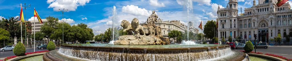 ~ 112 * 98 * VALID FOR TRAVEL: 1-31 Aug 18+ 3 Nights from 519 * per person, MADRID SIGHTSEEING Cibeles Fountain MADRID HIGHLIGHTS MORNING TOUR Discover the culturally diverse character of Madrid on