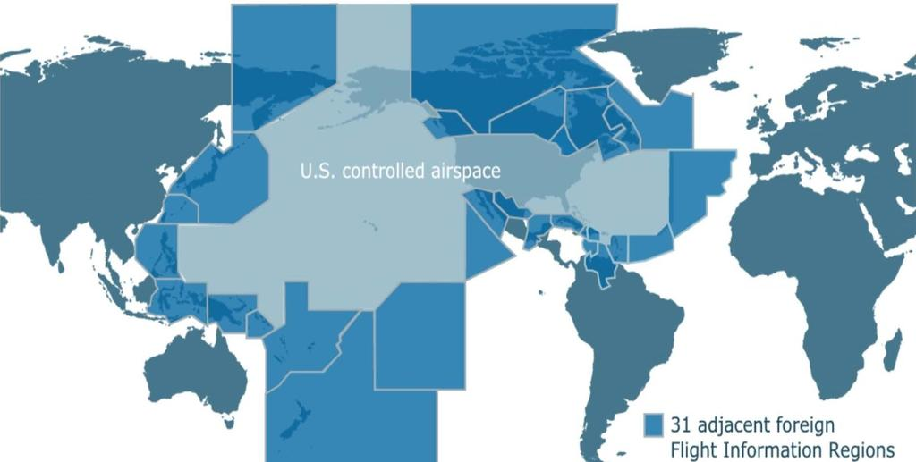 US Controlled Airspace Large and Complex air traffic services The FAA both regulates and, as the country s