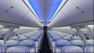 installation points that are already present in these aircraft. Figure 61: Boeing Sky Interior Cabin B737 Upgrade package [173].