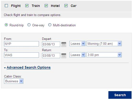 Amtrak Check the Train trip type, and the other trip components you wish to book. Then enter the departure and destination stations, trip dates and times, and other train availability options.