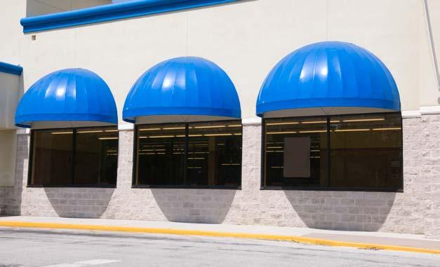 LAURA A DOME AWNING The dome awning LAURA serves for roofing entrances to restaurants, hotels or shops and, as such,