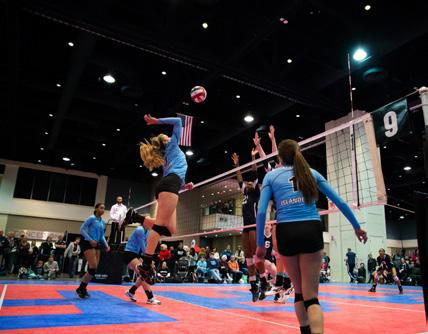 The Mid-Atlantic Power League (MAPL) volleyball tournament returned to RCC with record participation; played on 25 courts, the