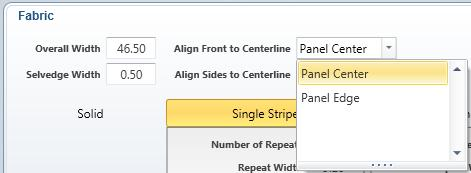At the top of the Fabric Pane, you can choose to have awning centerline aligned with the center of a fabric panel or with an edge. Try both to see which saves material.