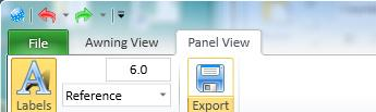 arrow on the Export button to open the current design panels in PatternSmith. After you have exported the.psxml file, you can then open it in PatternSmith.