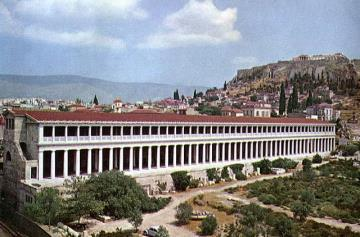 Classical Hellenistic Stoa of Attalos Athenes, 150