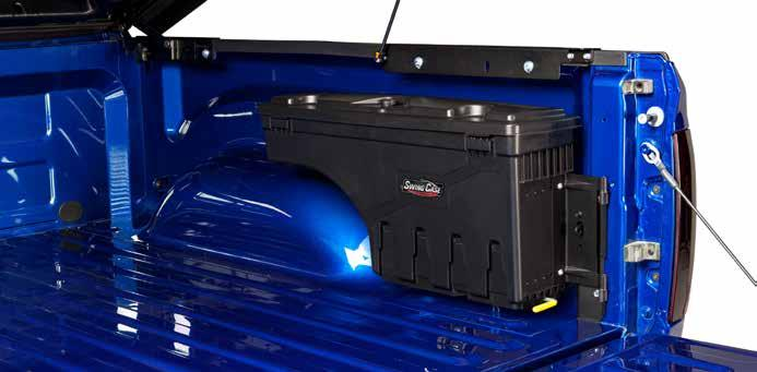 UnderCover, maker of the most popular hard tonneau in the USA, brings you SwingCase.