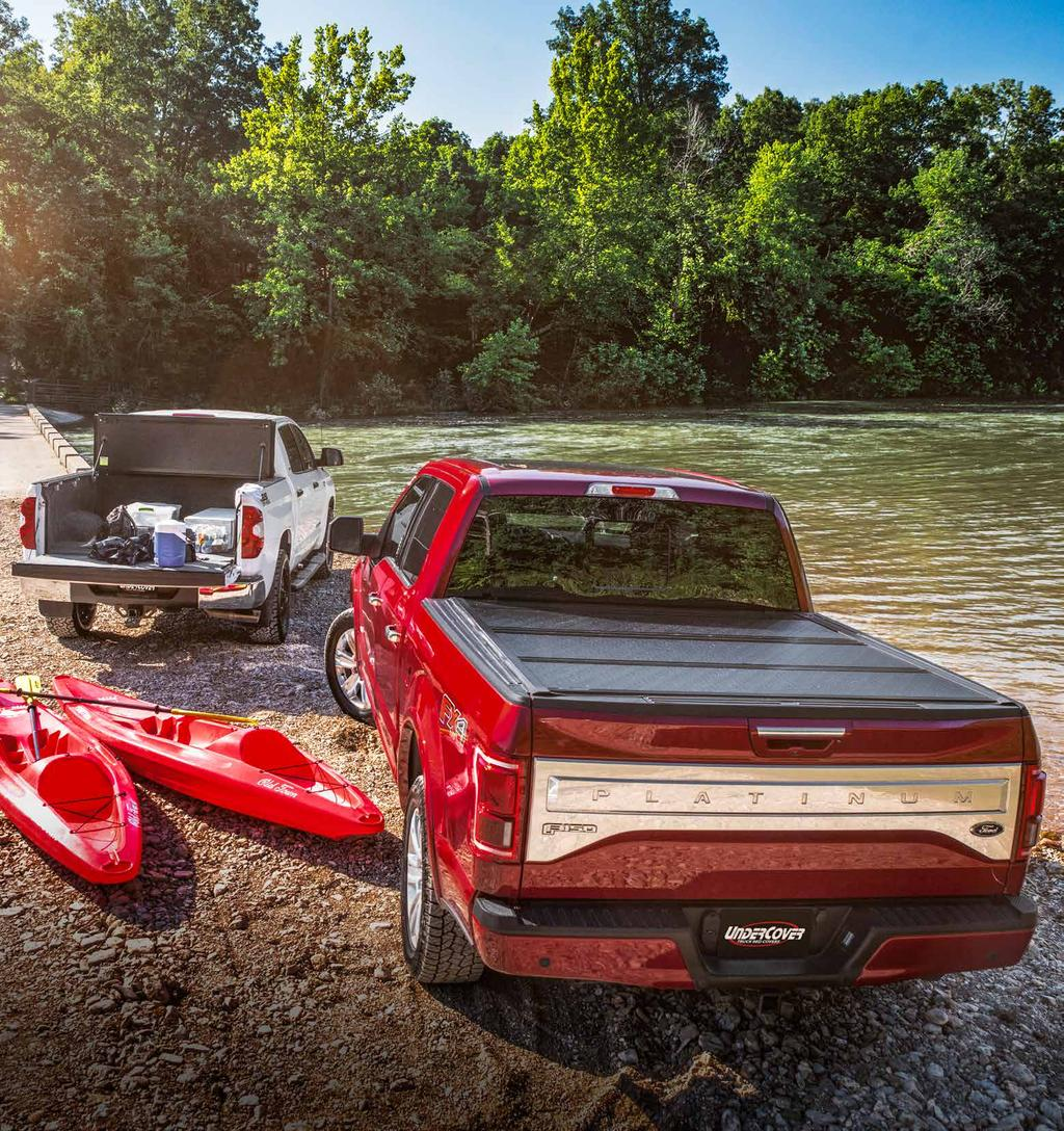 FLEX The UnderCover Flex is a hardfolding truck bed cover that gives you the ultimate control of your truck bed, offering three secure riding positions.