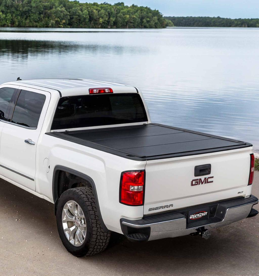 ULTRA FLEX THE ULTIMATE TRUCK BED SOLUTION A hard-folding truck bed cover that comes with exciting new features, and is topped off with an alluring matte finish.